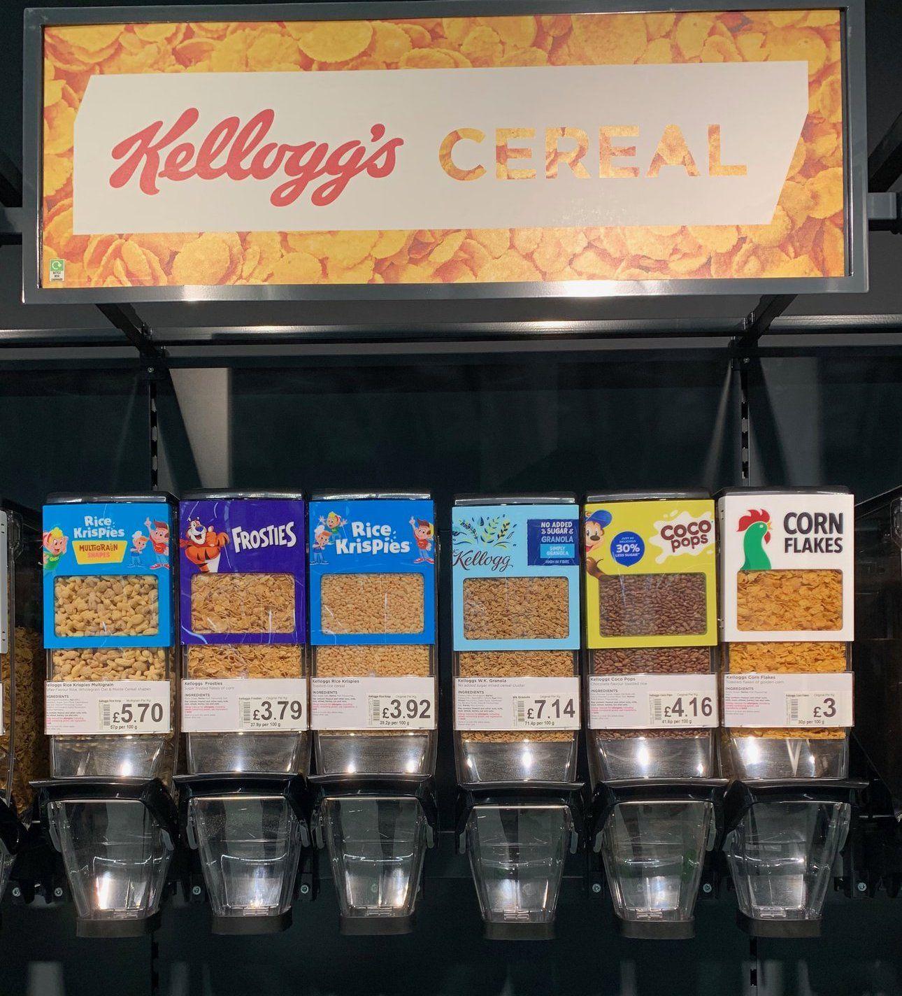 Kellog's branded bulk bins